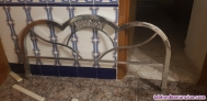 Fotos del anuncio: Cabecero y piecero  de cama  de aluminio