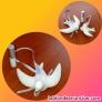 Fotos del anuncio: 2 Golondrinas elaboradas en yeso porcelanico perfumado