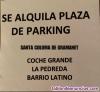 Alquiler plaza parking