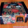 Fotos del anuncio: Elegante baúl de viaje tapizado con motivos florales