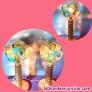 Fotos del anuncio: Pareja de Lámparas en Led y fosforescente en peana de roble antiguo