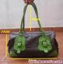 Bolso marron y verde