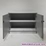 Fotos del anuncio: Armario auxiliar melamina gris 94x43cm